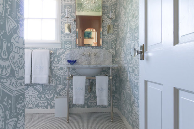 Amazing Transitional Bathroom by Michaela Dodd
