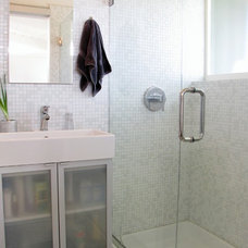 Midcentury Bathroom by Tara Bussema - Neat Organization and Design