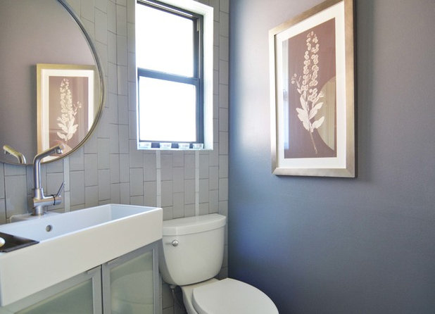 Elegant Midcentury Bathroom by Sarah Greenman