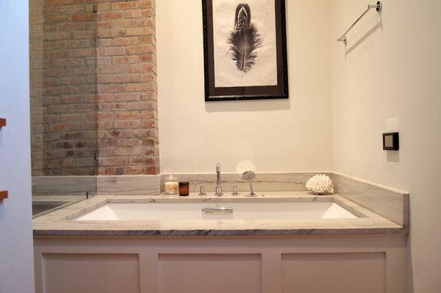Fancy Eclectic Bathroom by Kayla Stark