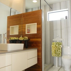 Modern Bathroom by Kara Mosher