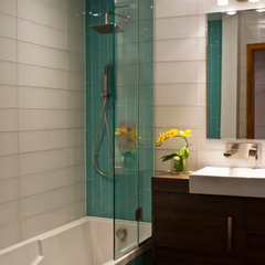 contemporary bathroom by Emily Campbell