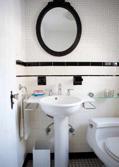Elegant Eclectic Bathroom by Theresa Fine