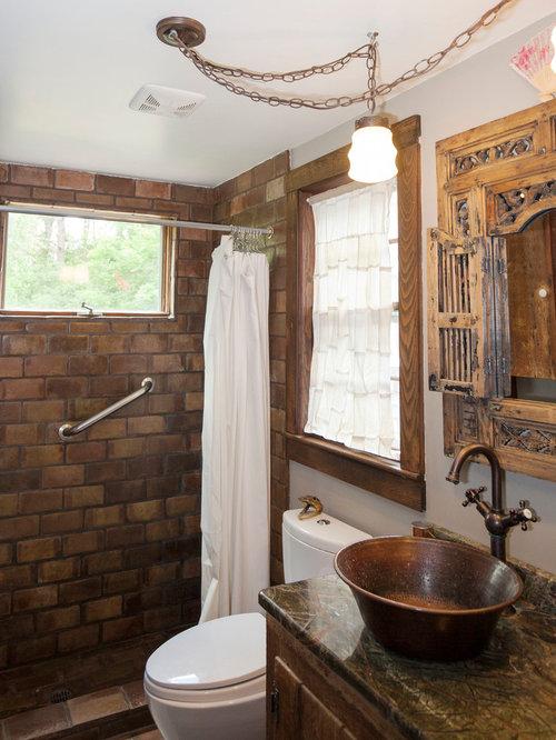 Farmhouse Copper Bathroom Design Ideas, Remodels & Photos
