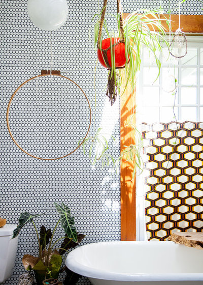 Eclectic Bathroom by Ellie Lillstrom Photography
