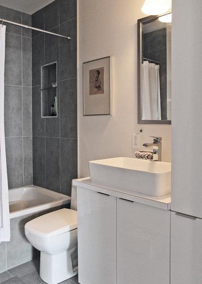 Amazing Contemporary Bathroom by Laura Garner
