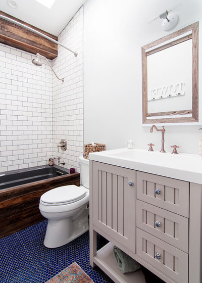 Simple Farmhouse Bathroom by Alexandra Crafton