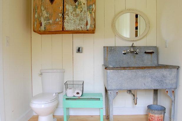 Farmhouse Bathroom by Corynne Pless