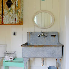 Farmhouse Bathroom by Corynne Pless