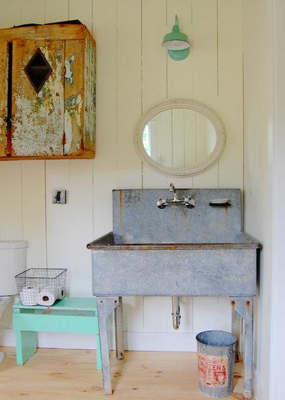 12 id es d co pour une jolie salle de bains campagne - Meuble salle de bain campagne ...