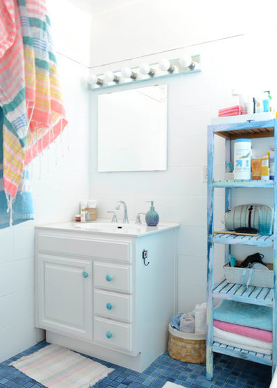 Eclectic Bathroom by Planning Pretty