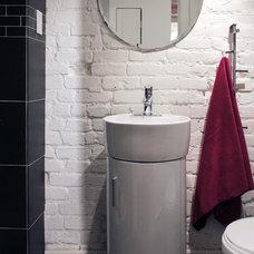Transitional Bathroom by Laura Garner