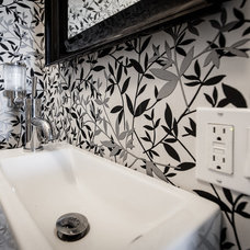 Transitional Bathroom by Becki Peckham