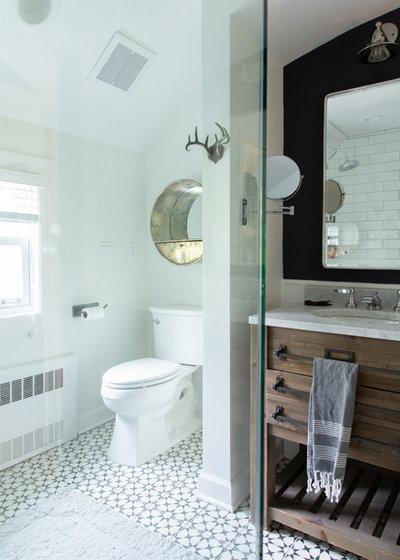 Transitional Bathroom by Rachel Loewen Photography