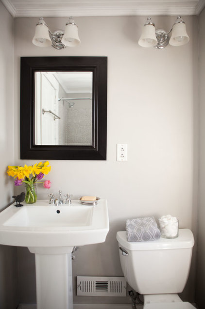 transitional bathroom by Tess Fine