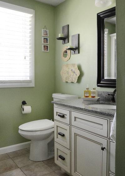 Elegant Traditional Bathroom by Design Fixation Faith Towers