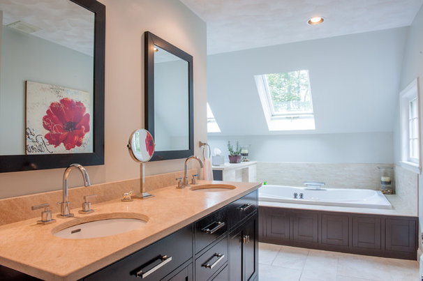 Transitional Bathroom by Mary Prince Photography