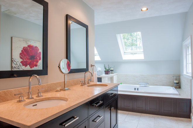 transitional bathroom by Mary Prince