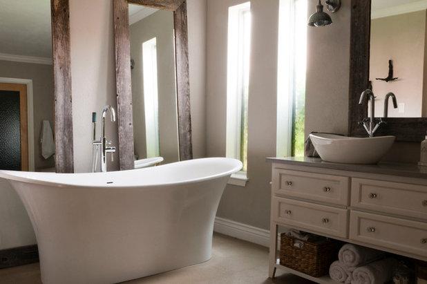 Epic Transitional Bathroom by Angela Flournoy