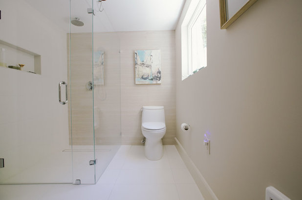 Transitional Bathroom by Nanette Wong