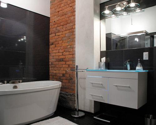 Modern urban contemporary houzz for Modern industrial bathroom