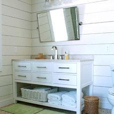 Beach Style Bathroom by Mina Brinkey