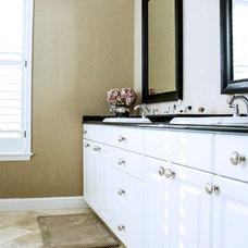 Traditional Bathroom by Mina Brinkey