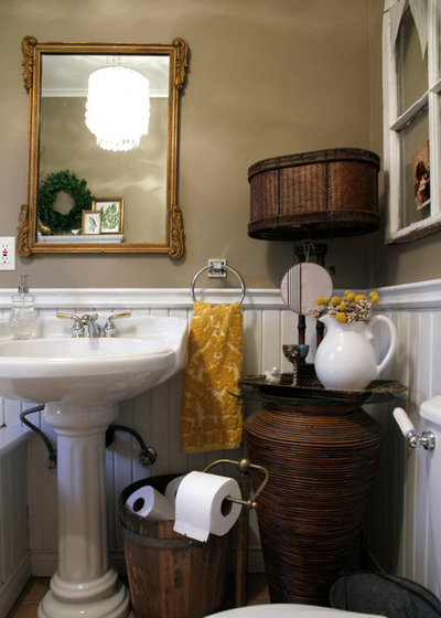 Eclectic Bathroom by Esther Hershcovich. The Absolute Right Way to Hang Toilet Paper  Maybe
