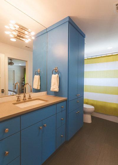 Midcentury Bathroom by Heather Banks