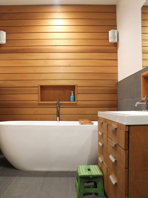 Red Cedar Cladding Bathroom Design Ideas Remodels Photos