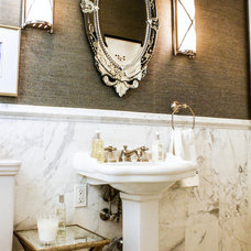 Transitional Bathroom by Mina Brinkey