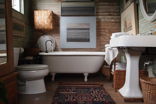 Cute Transitional Bathroom by Kayla Stark