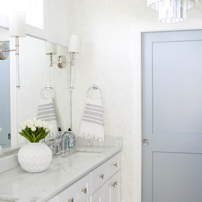 Inspiration for a transitional bathroom remodel in DC Metro