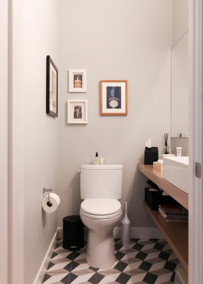 Scandinavian Bathroom by Rachel Loewen Photography