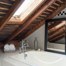 Farmhouse Bathroom by Adrienne DeRosa