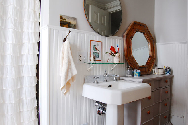 Eclectic Bathroom by Corynne Pless