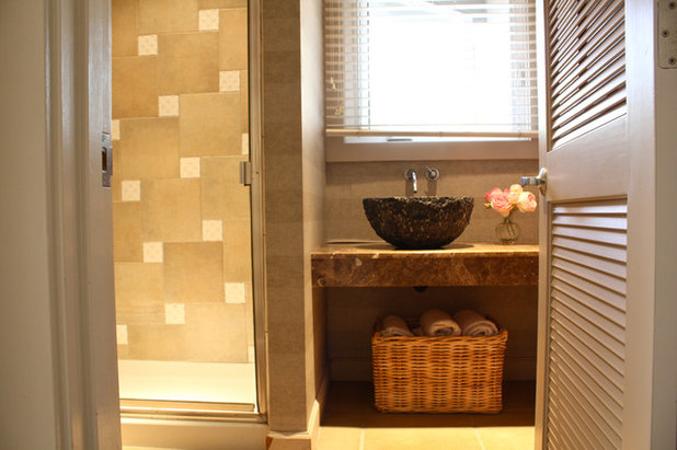 Perfect Beach Style Bathroom by Shannon Malone
