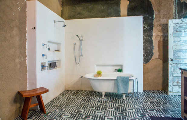 Eclectic Bathroom by Margot Hartford Photography
