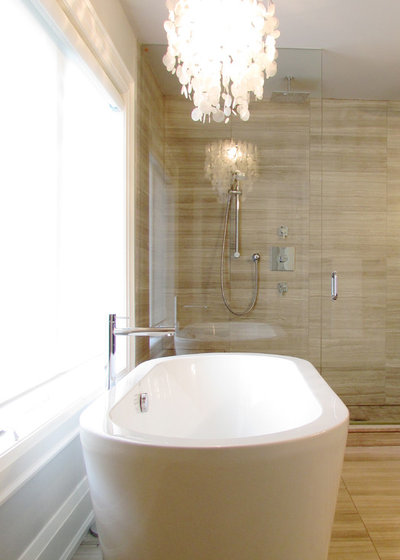New Contemporary Bathroom by Jenn Hannotte Hannotte Interiors