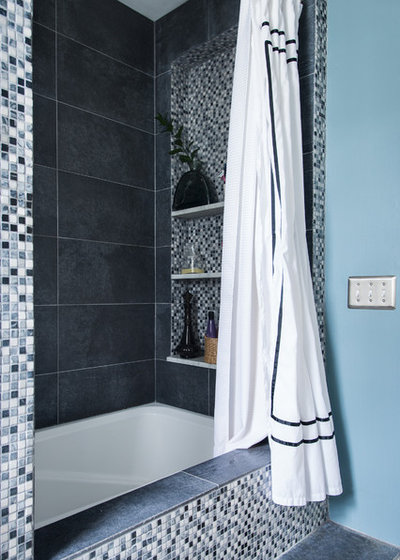 Lovely Transitional Bathroom by Danielle Sykes