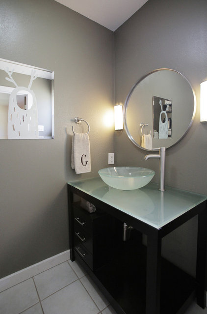 contemporary bathroom by Lindsay von Hagel