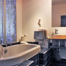 Eclectic Bathroom by Laura Garner
