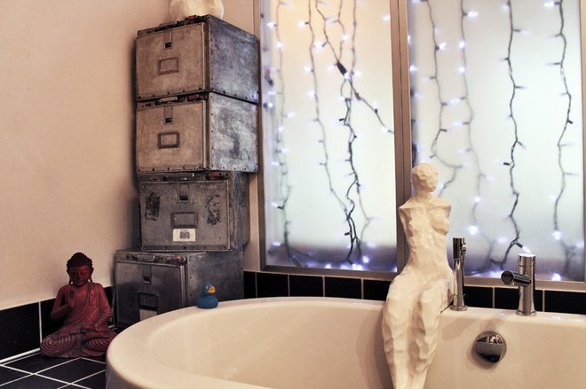 Eclectic Bathroom by Laura Garner