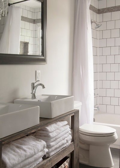 Shabby-chic Style Bathroom by Adrienne DeRosa