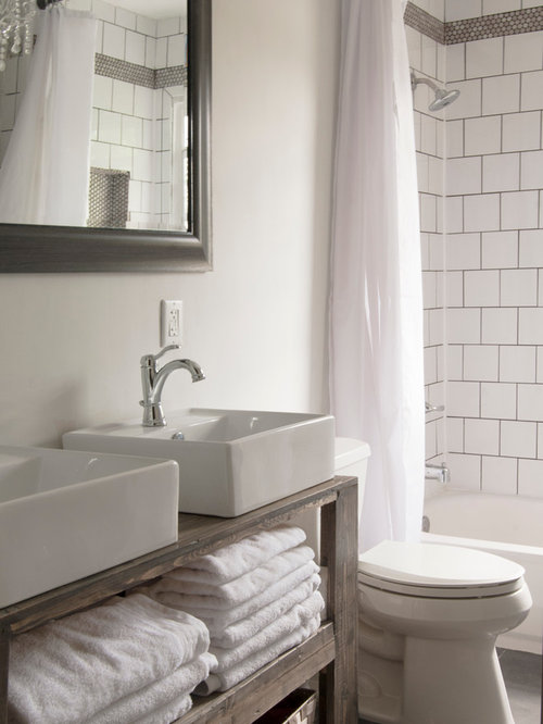 Shabby chic style bathroom design ideas renovations for Shabby chic wall tiles