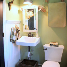Farmhouse Bathroom by Sara Bates