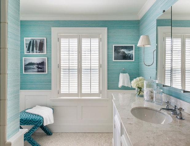 Ideal Beach Style Bathroom by Kate Jackson Design