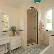 eclectic bathroom by Design Vidal