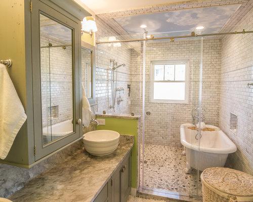 Salle de bain bord de mer avec une douche en alc ve photos et id es d co de salles de bain - Salle de bain bord de mer ...