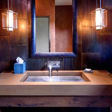 Contemporary Bathroom by Elements Concrete